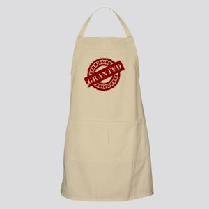 Permission Granted red BBQ Apron