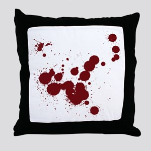 Bloody Throw Pillow
