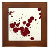 Blood splatter Framed Tiles