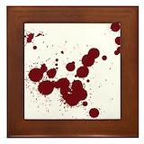 Blood splatter Framed Tiles