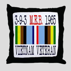 3-9-3 MEB 1965 Vietnam Veteran Throw Pillow