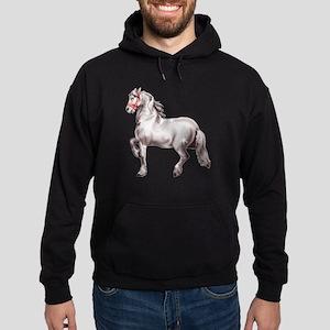 Percheron Draft Horse Hoodie (dark)
