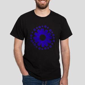Sunflowers blue Dark T-Shirt