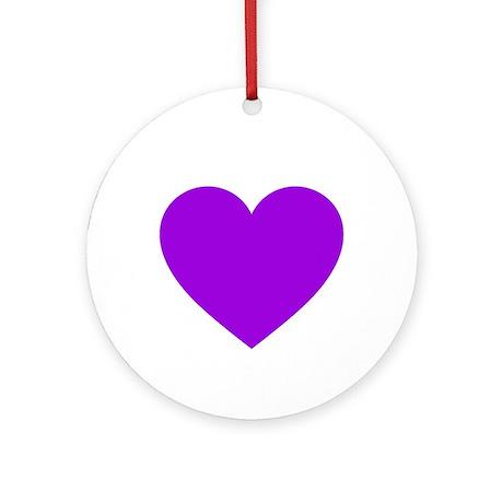 Purple Heart Ornament (Round)
