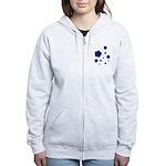 blue Women's Zip Hoodie