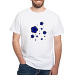 blue White T-Shirt