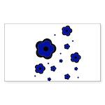 blue Rectangle Sticker 50 pk)