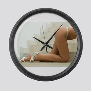 Sexy Female Legs Large Wall Clock