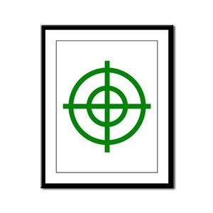 Green Sight Framed Panel Print