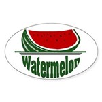 Watermelon Oval Sticker