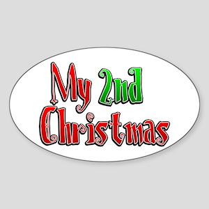 My 2nd Christmas Oval Sticker
