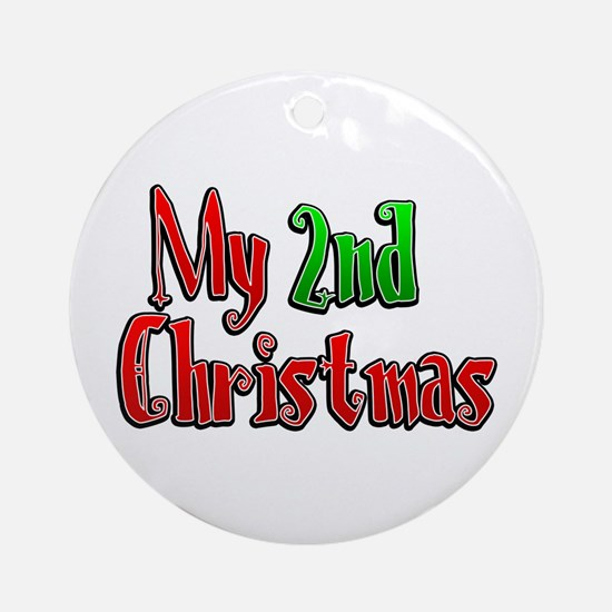 My 2nd Christmas Ornament (Round)