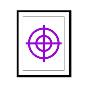 Purple Sight Framed Panel Print