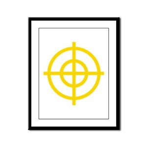 Yellow Sight Framed Panel Print