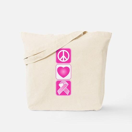 Peace, Love, Hope Tote Bag