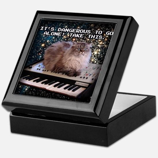 Cat On A Keyboard In Space Keepsake Box
