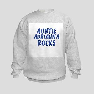 AUNTIE ADRIANNA ROCKS Kids Sweatshirt
