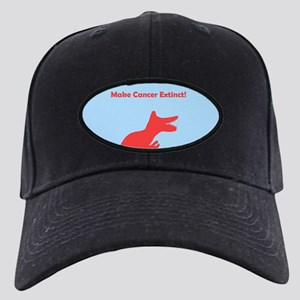Dinosaur Make Cancer Extinct Black Cap / Hat pink