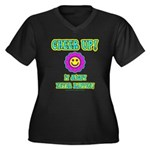 Cheer Up Women's Plus Size V-Neck Dark T-Shirt