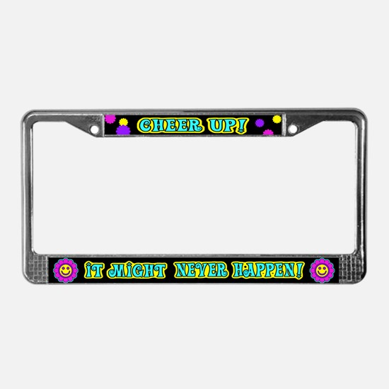 Cheer Up License Plate Frame