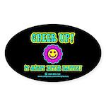 Cheer Up Oval Sticker (10 pk)