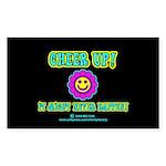 Cheer Up Rectangle Sticker