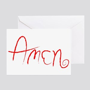 Amen Greeting Card
