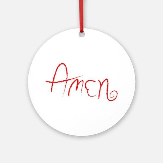 Amen Ornament (Round)