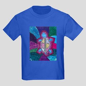 Folk Art Turtle Kids Dark T-Shirt