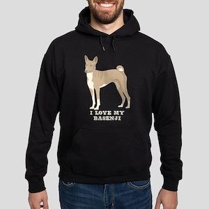 I Love my Basenji Hoodie (dark)