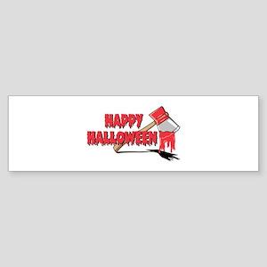 HAPPY HALLOWEEN (axe) Bumper Sticker