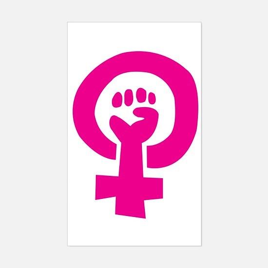 Feminist Pride Rectangle Bumper Stickers