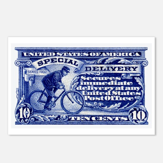Cool Postage stamp Postcards (Package of 8)