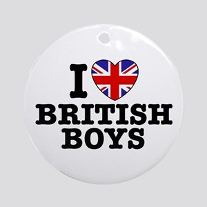 I Love British Boys Ornament (Round)