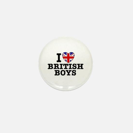 I Love British Boys Mini Button