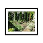 Garden On Vashon Island Framed Panel Print