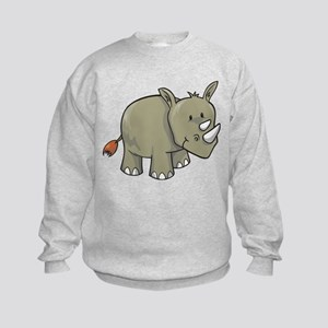 Two Horn Rhino Kids Sweatshirt