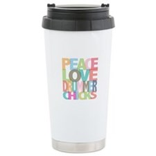 Peace Love Drummer Chicks Stainless Steel Travel M