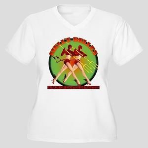 Hell's Belles Women's Plus Size V-Neck T-Shirt