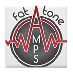 Fat Tone Amps logo Tile Coaster
