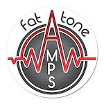 Fat Tone Amps logo Round Car Magnet