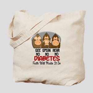 See Speak Hear No Diabetes 1 Tote Bag