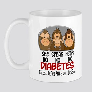 See Speak Hear No Diabetes 1 Mug