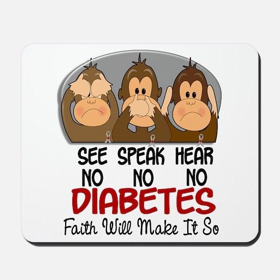 See Speak Hear No Diabetes 1 Mousepad