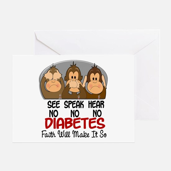See Speak Hear No Diabetes 1 Greeting Card