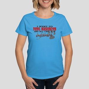 Forks, Washington - Imprinted Women's Dark T-Shirt