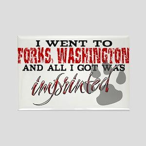 Forks, Washington - Imprinted Rectangle Magnet