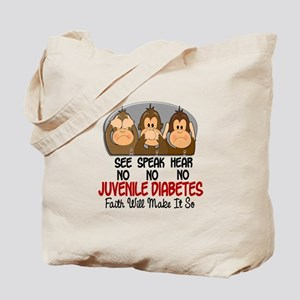 See Speak Hear No Juv Diabetes 1 Tote Bag