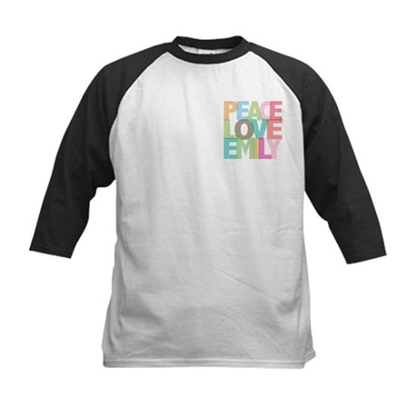 Peace Love Emily Kids Baseball Jersey