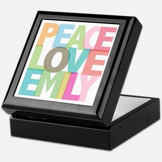 Peace Love Emily Keepsake Box